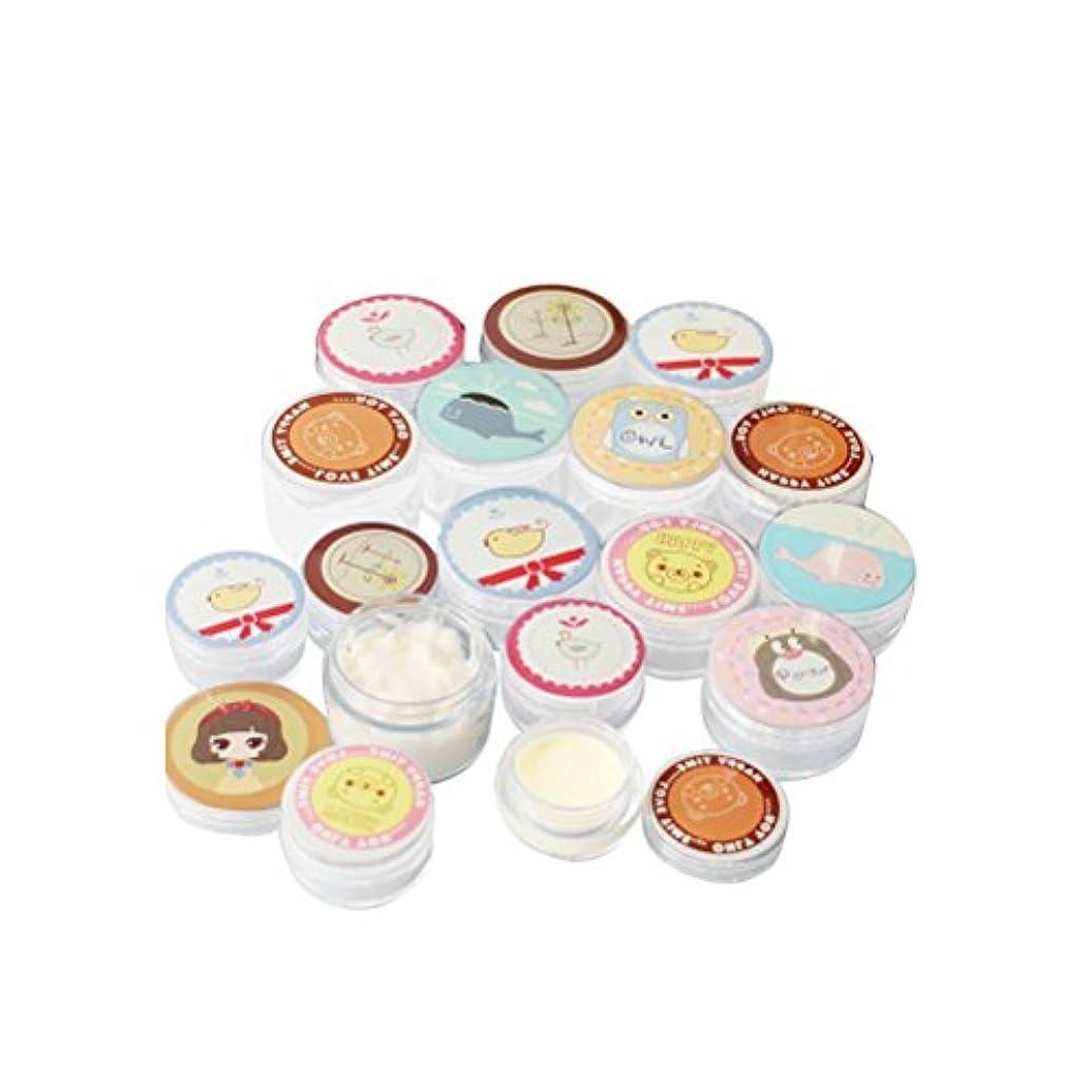 擬人フィードオンシリンダー(メイクアップエーシーシー) MakeupAcc小分け容器 化粧品 クリーム 軟膏 空容器 キャップミニ缶 2個入り スティック セット 15g 22g 27g (L) [並行輸入品]