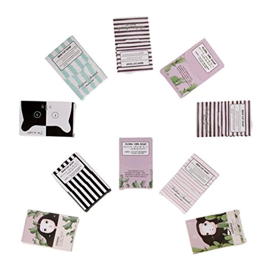 Hellery 10箱の使い捨て可能な石鹸のペーパー-旅行のための150枚のシートの石鹸