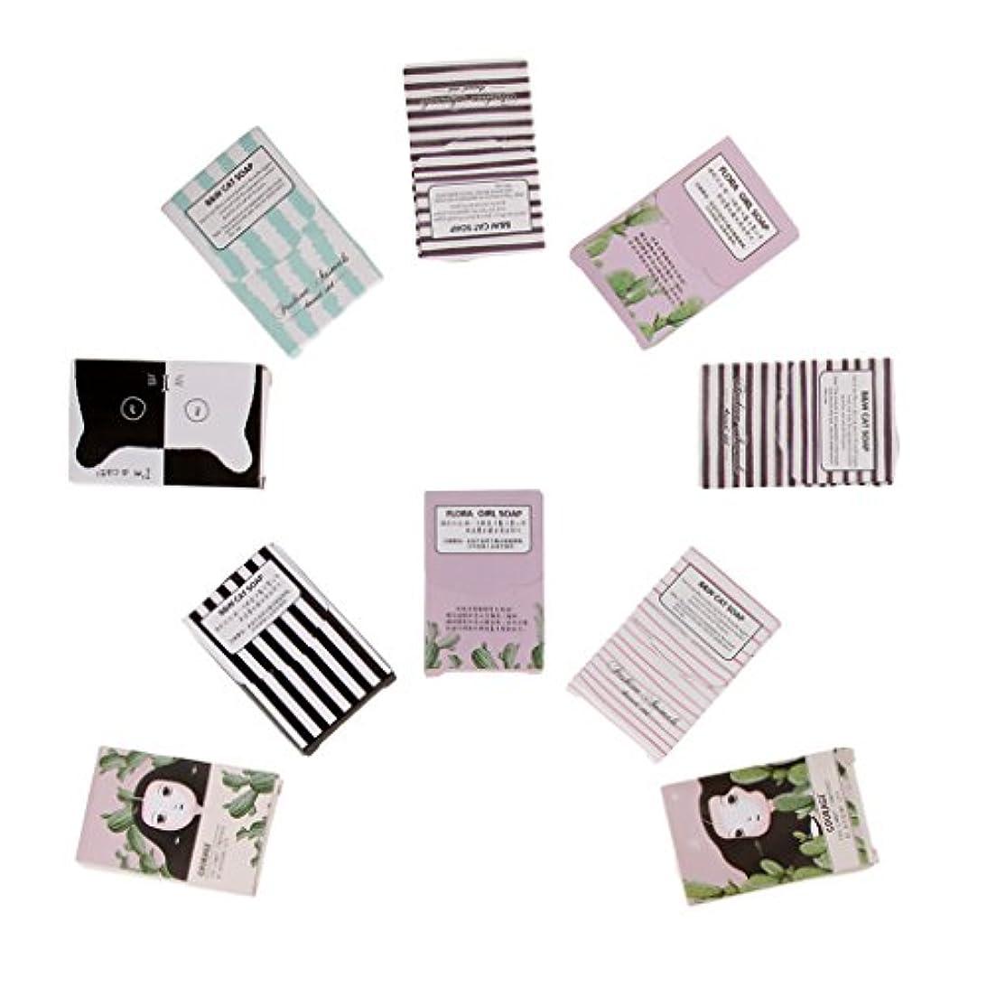 バンドル見出しそよ風Hellery 10箱の使い捨て可能な石鹸のペーパー-旅行のための150枚のシートの石鹸