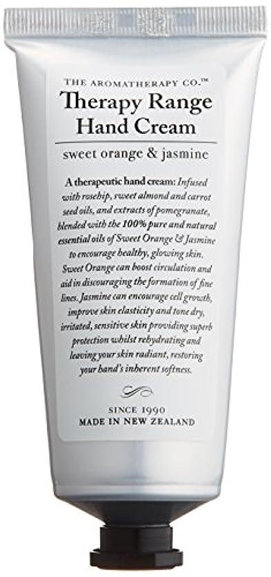 ミニ遅れ嫌がるアロマセラピーカンパニー Therapy Range セラピーレンジ ナリシングハンドクリーム スイートオレンジ& ジャスミン