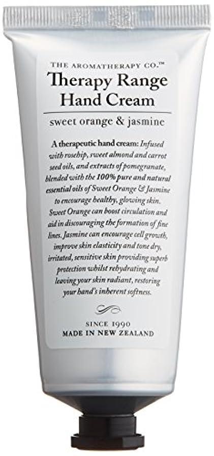 定規検証素晴らしいですアロマセラピーカンパニー Therapy Range セラピーレンジ ナリシングハンドクリーム スイートオレンジ& ジャスミン