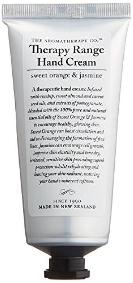 砂漠ミュウミュウバングラデシュアロマセラピーカンパニー Therapy Range セラピーレンジ ナリシングハンドクリーム スイートオレンジ& ジャスミン