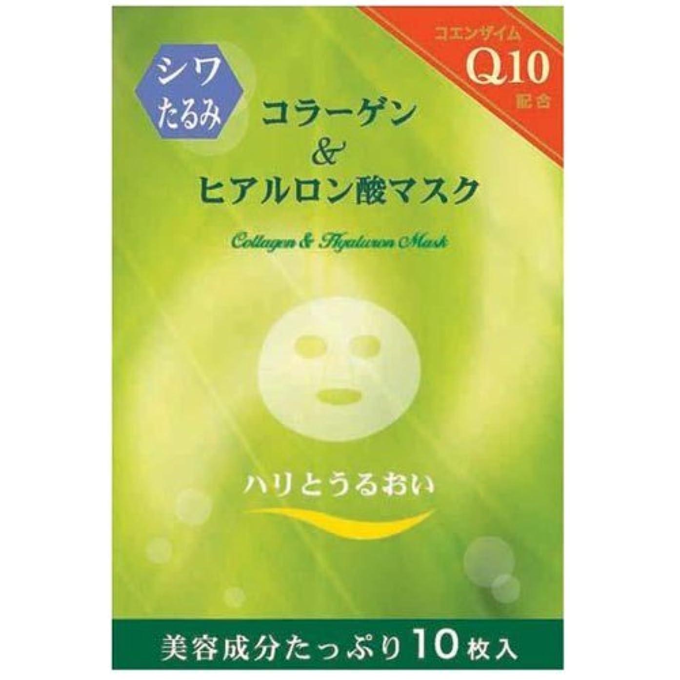 キノコ資料四分円コラーゲン&ヒアルロン酸マスク