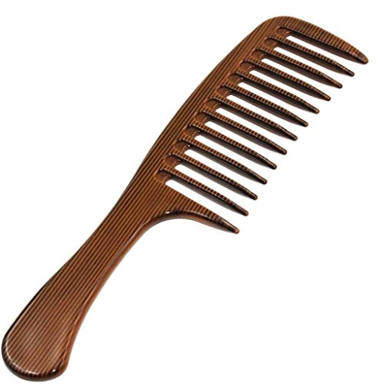 思いつくシマウマ筋肉のホームと旅行ヘアーサロンのために手作りの帯電防止木材くしワイド歯カーリーもつれくし