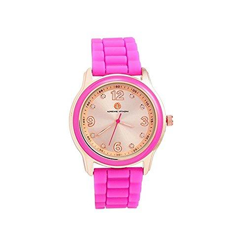 Adrienne Vittadini Ladies Watch ads9857rg228 ? 375ローズゴールドダイヤルゴムストラップ