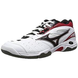 [ミズノ] テニスシューズ ウエーブセンセーション OC [メンズ] ホワイト×ブラック×レッド 285(28.5cm) (旧モデル)