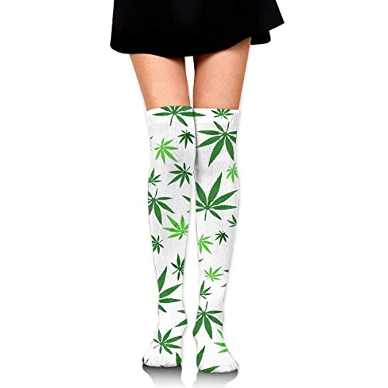 司法四回検査MKLOS 通気性 圧縮ソックス Breathable Thigh High Socks Over Exotic Psychedelic Print Compression High Tube Thigh Boot Stockings...