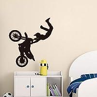Xbwy アートデザインオートバイレーサー壁デカール家の装飾取り外し可能なビニールウォールステッカー寝室用30×33センチ