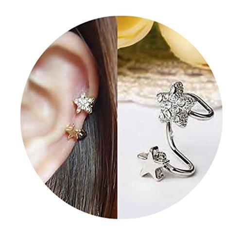[해외]비 홀이야 카후 귀걸이 귀 클립 귀걸이 바람 가짜 귀걸이 한쪽 귀 1 개 [CP-00-00687SP] 논호루삐아스 논 홀 귀걸이 선물 파티/Non Hole Ear Cuff Earrings Ear Clip Earrings Wind Fake Pierce Single Ear [CP-00-00687SP] Non Hole Piercing Non H...