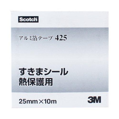 3M アルミ箔テープ(厚手タイプ) 425 25mm幅x10M