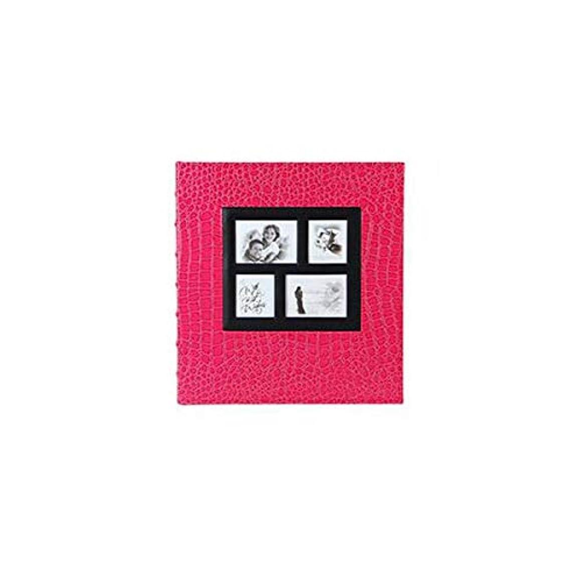 操縦するインセンティブ頑丈WXZD レザーパターン、埋め込まれたウィンドウのアルバム、保存された6インチ5インチ、創造的な家族のアルバム (Color : Rose red)