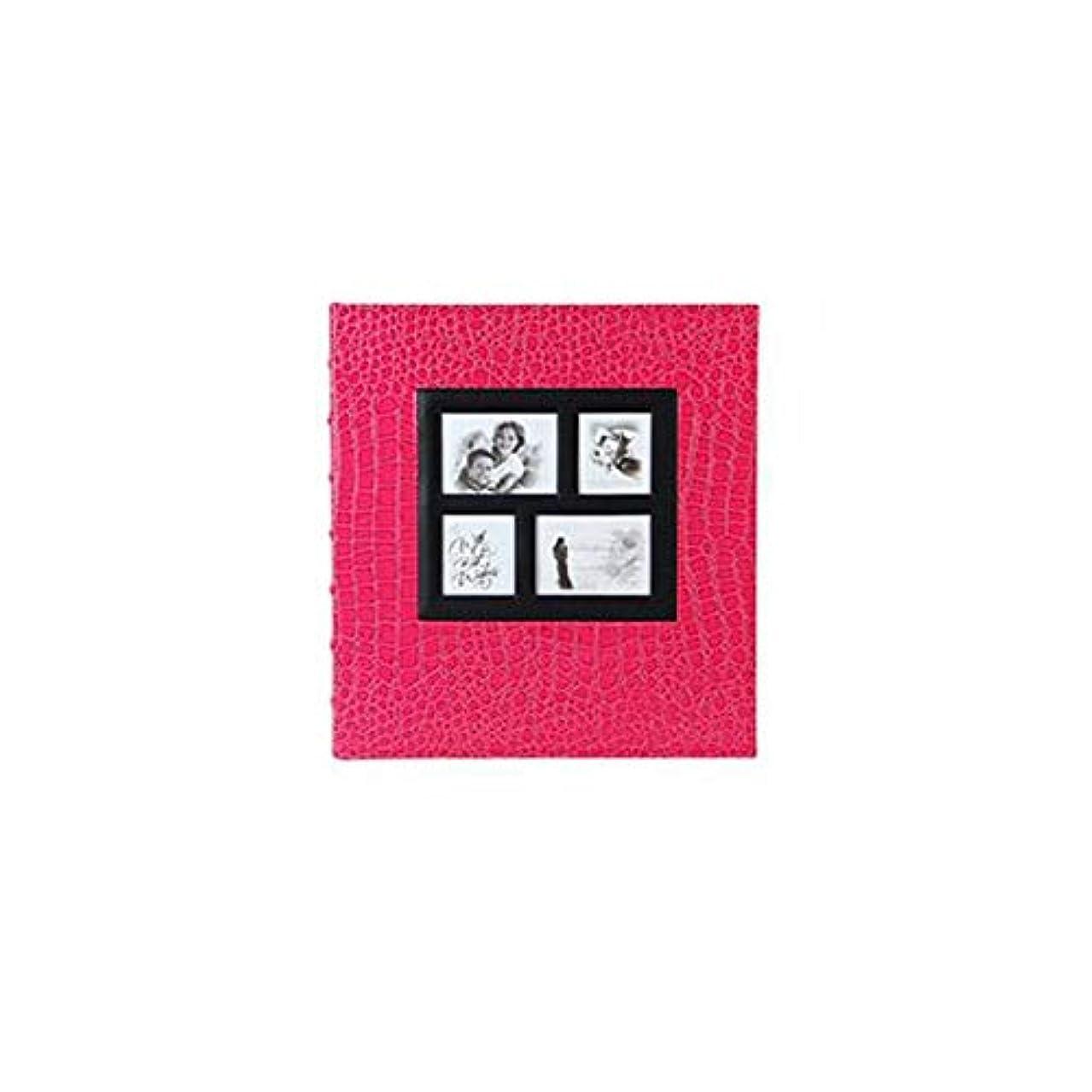 寝室霜思い出すWXZD レザーパターン、埋め込まれたウィンドウのアルバム、保存された6インチ5インチ、創造的な家族のアルバム (Color : Rose red)