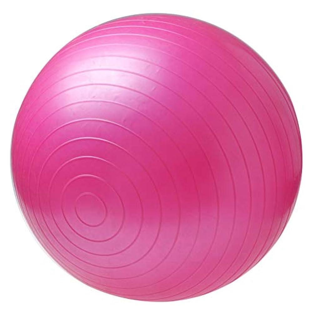 自由円形エラー非毒性スポーツヨガボールボラピラティスフィットネスジムバランスフィットボールエクササイズピラティスワークアウトマッサージボール - ピンク75センチ