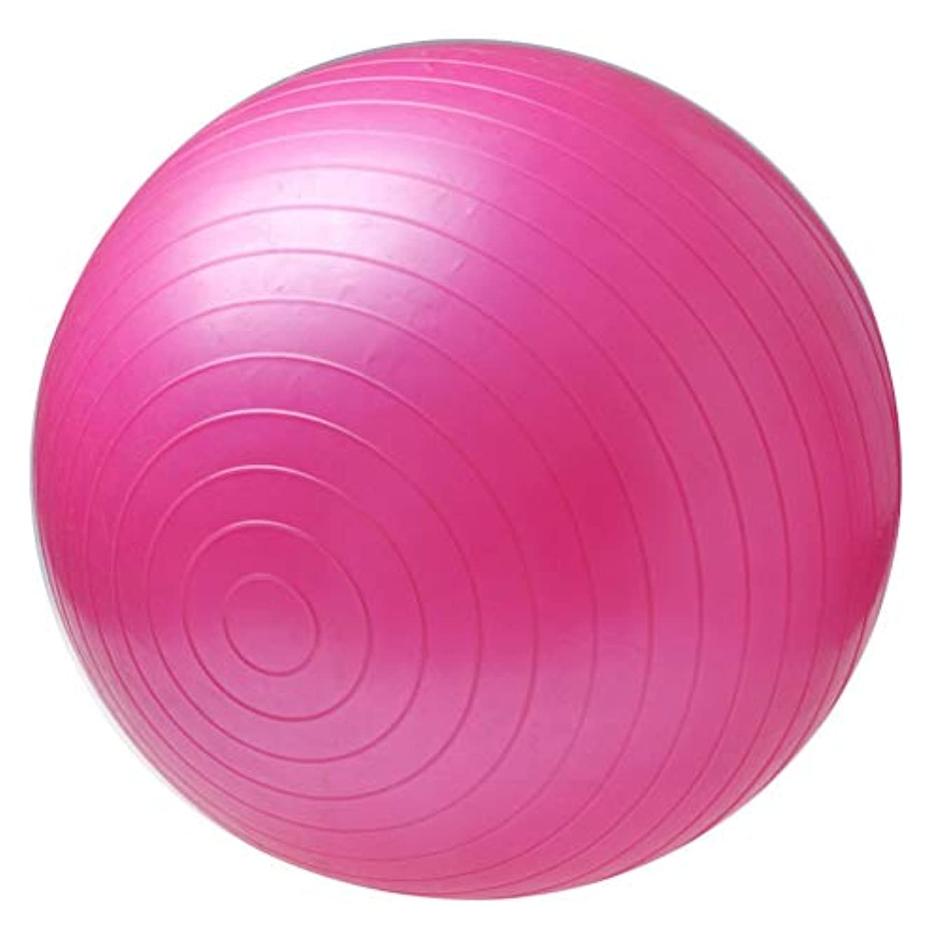 靄元のマニフェスト非毒性スポーツヨガボールボラピラティスフィットネスジムバランスフィットボールエクササイズピラティスワークアウトマッサージボール - ピンク75センチ