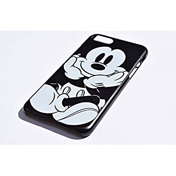 c20211a119 ディズニー 黒白 ミッキー iPhoneケース (iPhone7plus / iPhone8plus, ブラック ハードケース)