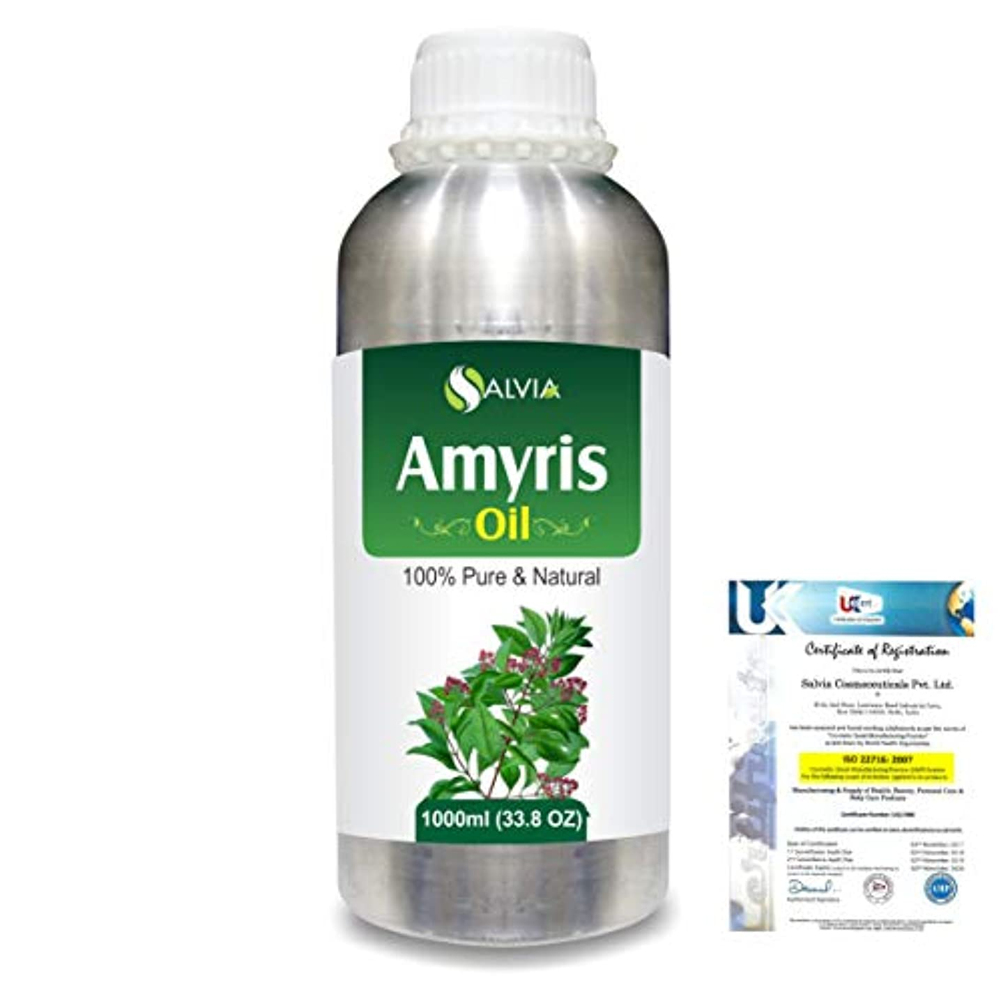 マラソン奇跡胸Amyris (Amyris balsamifera) 100% Natural Pure Essential Oil 1000ml/33.8fl.oz.