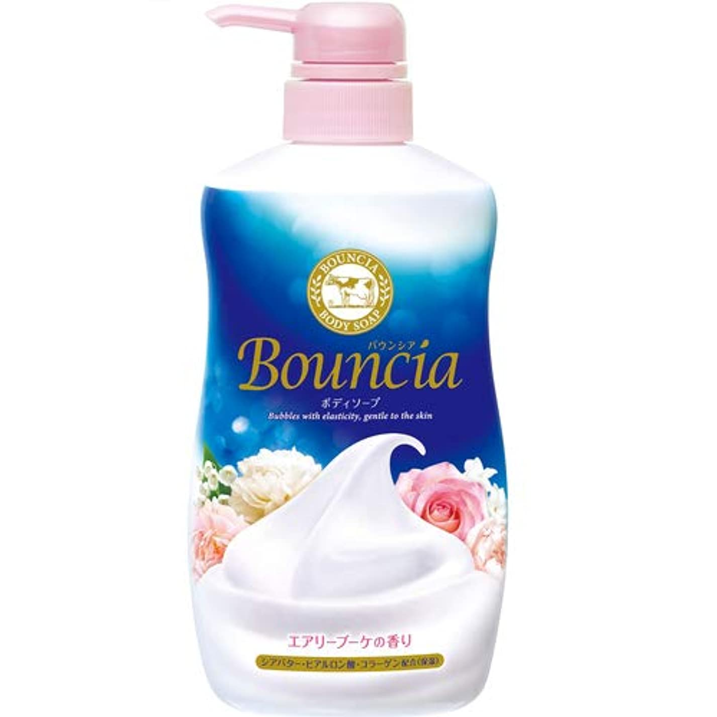ボット嵐の海外バウンシア ボディソープ エアリーブーケの香り ポンプ付 500mL