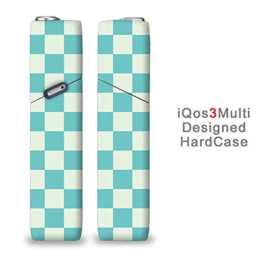 完全国内受注生産 iQOS3マルチ用 アイコス3マルチ用 熱転写全面印刷 チェック柄 加熱式タバコ 電子タバコ 禁煙サポート アクセサリー プラスティックケース ハードケース 日本製