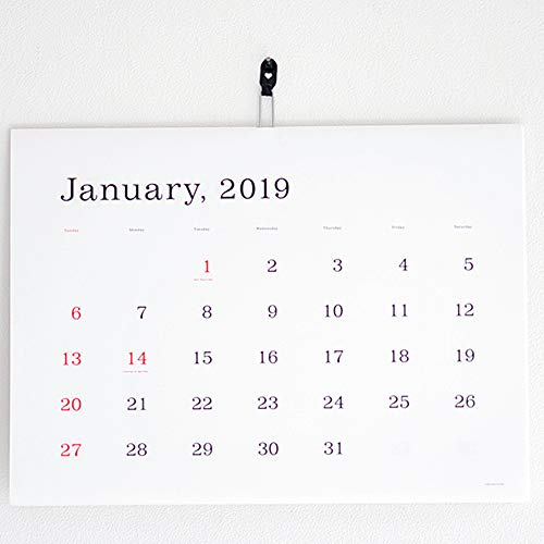 ☆2019年☆葛西薫 カレンダー(罫線なし)