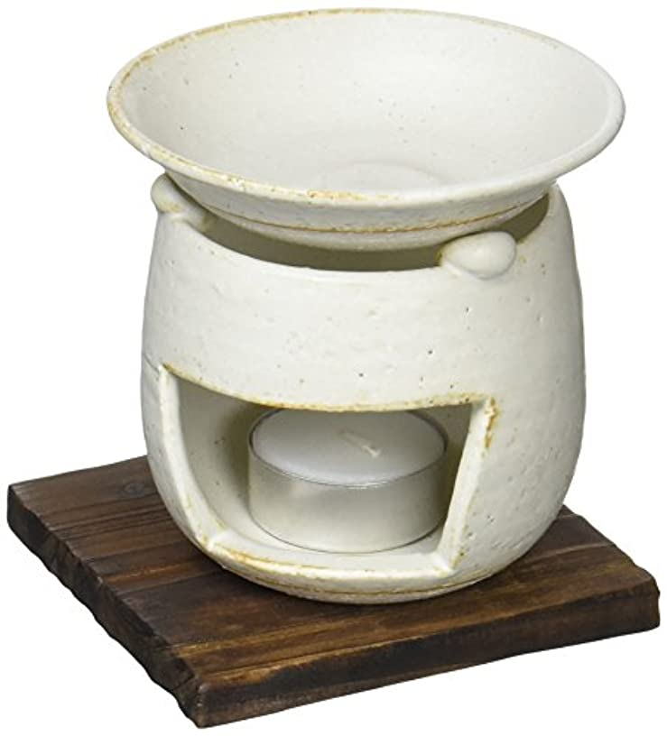 ブランク主留まる香炉 茶香炉(ホワイト) [H10.5cm] HANDMADE プレゼント ギフト 和食器 かわいい インテリア