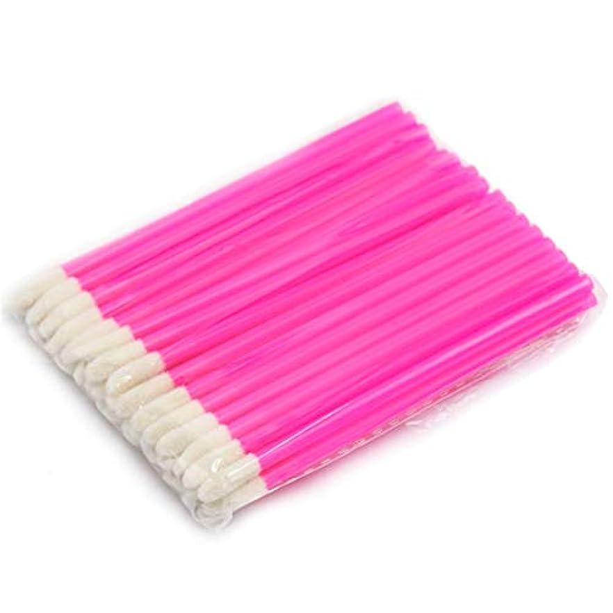ほうき鳴り響く少ないMakeup brushes 使い捨て化粧リップブラシ口紅光沢スティックアプリケーター化粧ツールファッションデザイン-ローズブッシュ suits (Color : Rose)