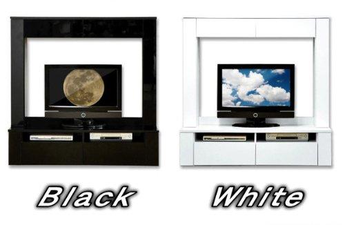 鏡面ハイタイプテレビ台 【スクエア】 150cm幅 テレビ台 HGTV-150 ホワイト