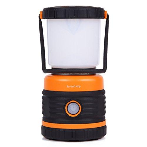 Second step(セカンドステップ) LEDランタン 探照灯シリーズ 1台に暖色LEDと白色LEDの2色を搭載 驚異の1000ルーメン セカンドステップ作成日本語取扱説明書付き  (オレンジ)
