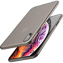 TOZO for iPhone Xs Case 5.8 Inch (2018) Ultra-Thin Hard Cover Full Body Slim Fit Shell [0.35mm] World's Thinnest Protect Bumper for iPhone 10s / Xs 5.8 inch [ Semi-transparent ] Lightweight with Design [Matte Black]
