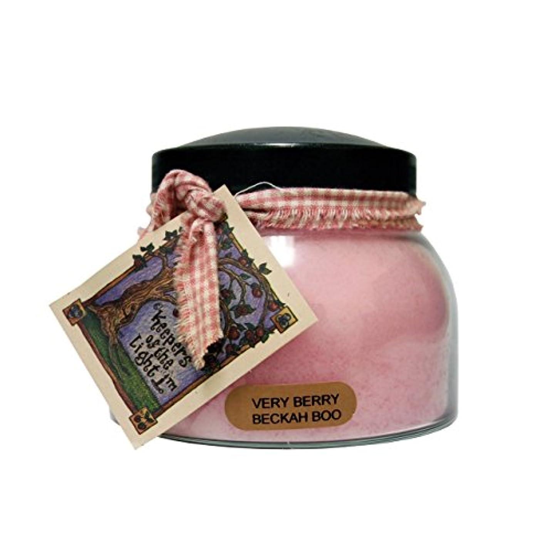 閃光懲らしめ資金A Cheerful Giver Very Berry Beckah Boo Mama Jar Candle, 22-Ounce [並行輸入品]
