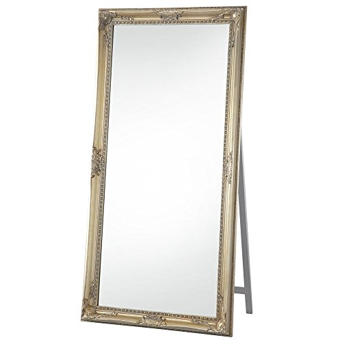 RoomClip商品情報 - 【大型全身鏡】【180×90cm】 アンティーク調 飛散防止加工 かがみ ミラー 姿見 シャンパンゴールド