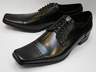 KATHARINE HAMNETT キャサリンハムネット 紳士靴 ビジネスシューズ ロングノーズ レース ストレートチップ 本革[ブラック]3947 (24.5)