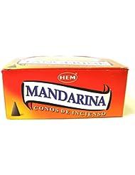HEM お香 タンジェリン(TANGERINE) コーンタイプ 1ケース(12箱入り) お香オレンジ