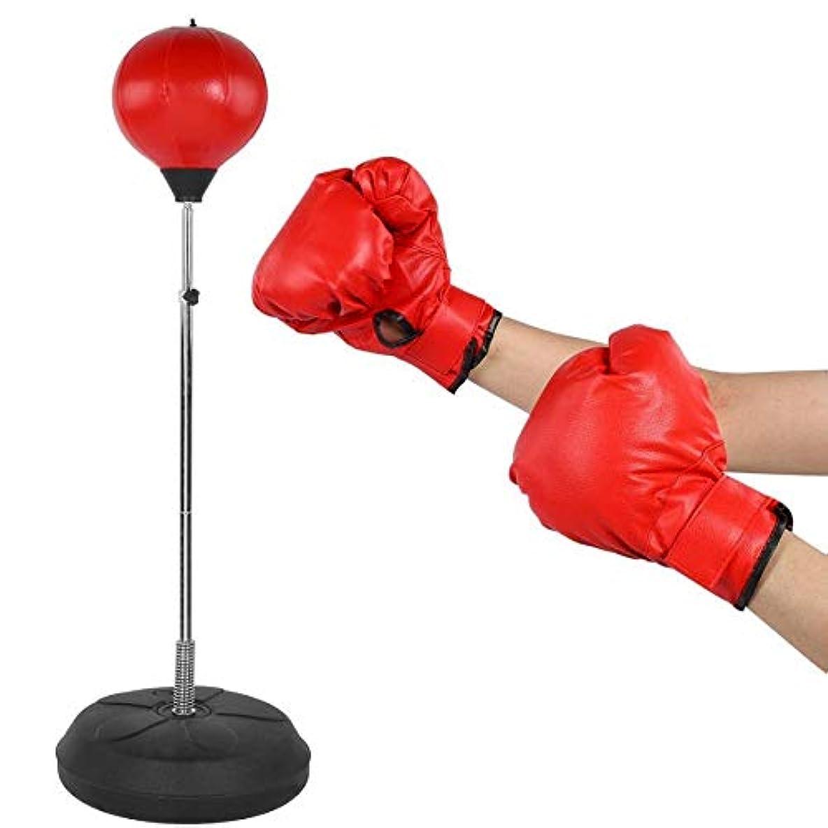 放散する静的導入するCHAOQIANG 大人のボクシングパンチングボール調節可能な垂直ボクシングのスピードボールタンブラーターゲット手袋と戦っ砂袋タンブラーをリラックス,フィットネス機器