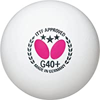 バタフライ(Butterfly) 卓球 スリースターボール G40+ 3個入 ホワイト 95740