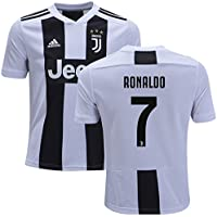 CARTER Youth 2018-19 Juventus Home Soccer Jersey #7 Cristiano Ronaldo