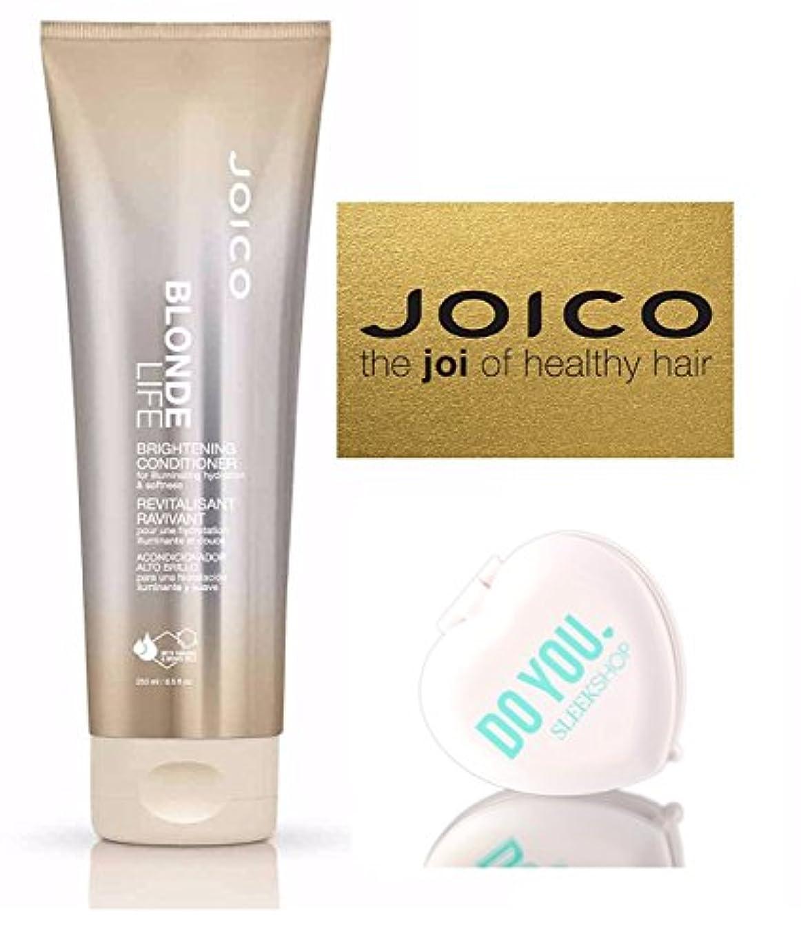 コーンウォールゆでる白鳥Blonde Life by Joico (なめらかなコンパクトミラー付)ジョイコブロンド?ライフブライトニングコンディショナー(8.5オンス/ 250mlの - 小売サイズ) 8.5オンス