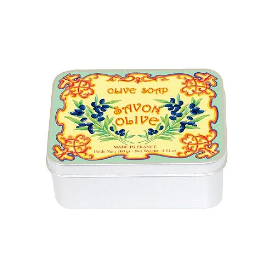 安心悪用雪だるまルブランソープ メタルボックス(オリーブの香り)石鹸
