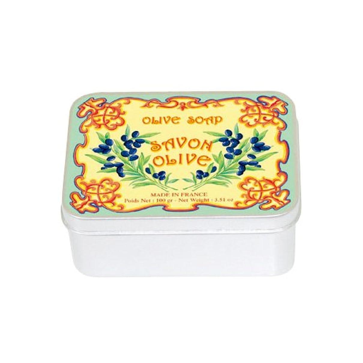 食欲取り出す電極ルブランソープ メタルボックス(オリーブの香り)石鹸