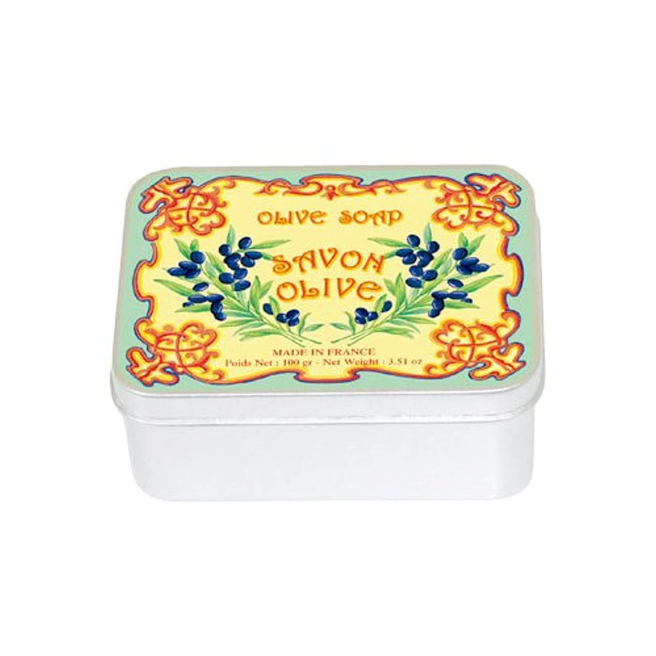 放棄された委任凍るルブランソープ メタルボックス(オリーブの香り)石鹸