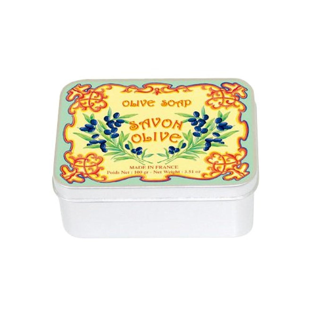 ジャム雷雨冷えるルブランソープ メタルボックス(オリーブの香り)石鹸