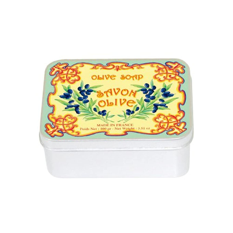 生物学洗剤定期的ルブランソープ メタルボックス(オリーブの香り)石鹸
