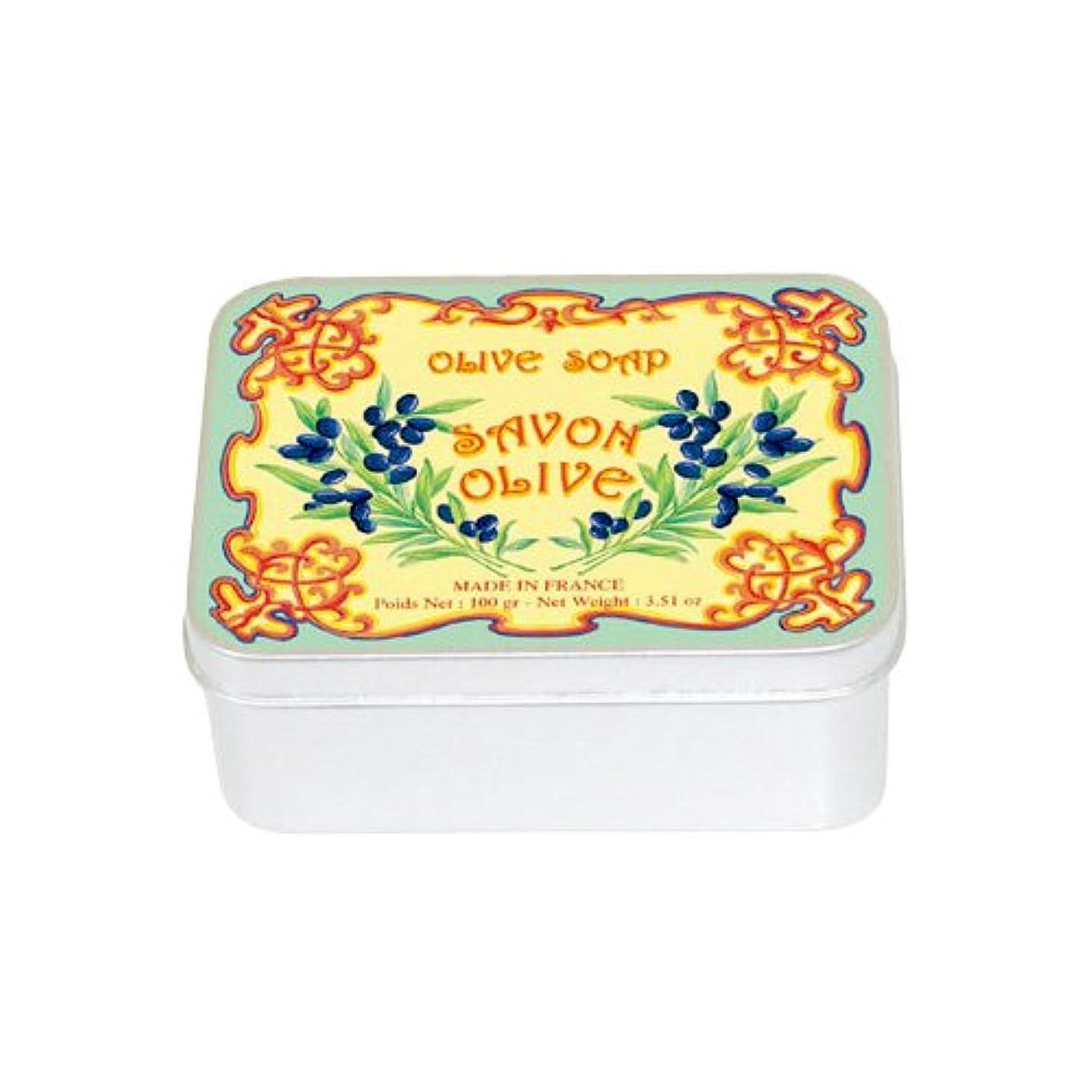 貞バックアップ夕食を食べるルブランソープ メタルボックス(オリーブの香り)石鹸