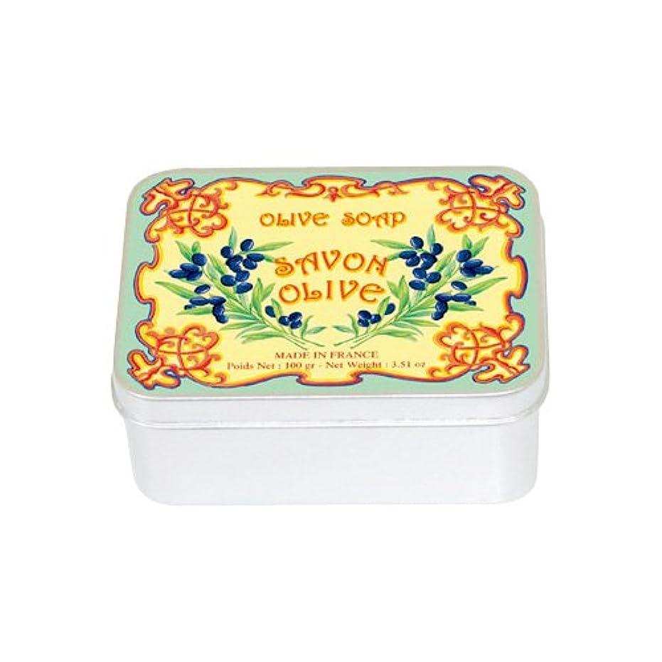ラオス人章ダンスルブランソープ メタルボックス(オリーブの香り)石鹸