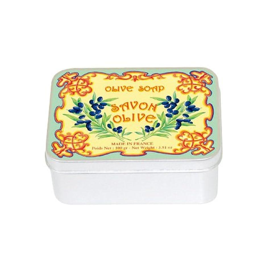ほこりっぽい繁殖見通しルブランソープ メタルボックス(オリーブの香り)石鹸
