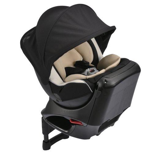カーメイト エールベベ クルットNT2プラウド 新生児から4歳用チャイルドシート(サンシェード付360度回転型) ヘーゼルブラック