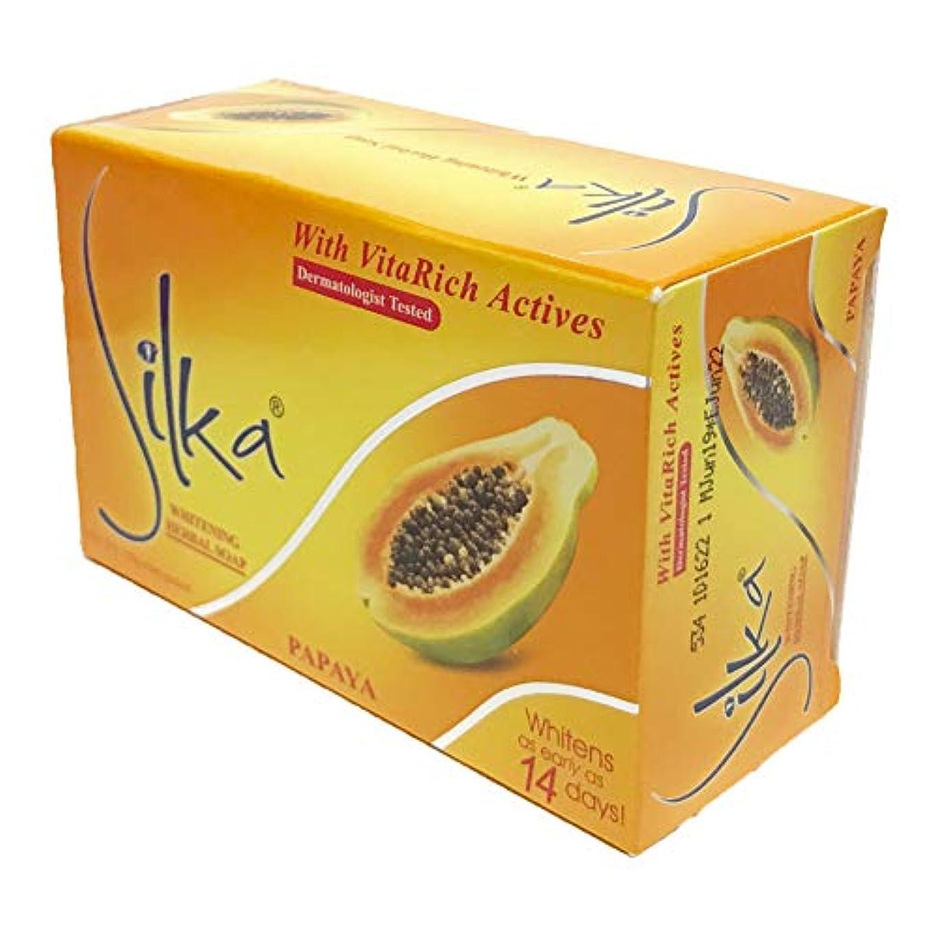 欠席悲劇的なヒントシルカ パパイヤソープ 135g Silka papaya soap