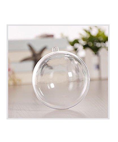 Shellme クリスマスボール 透明中空ボール プラスチックボール 10個セット オーナメント ツリー飾り DIY 飾りボール デコレーション クリスマス飾り おもちゃ 雰囲気満点