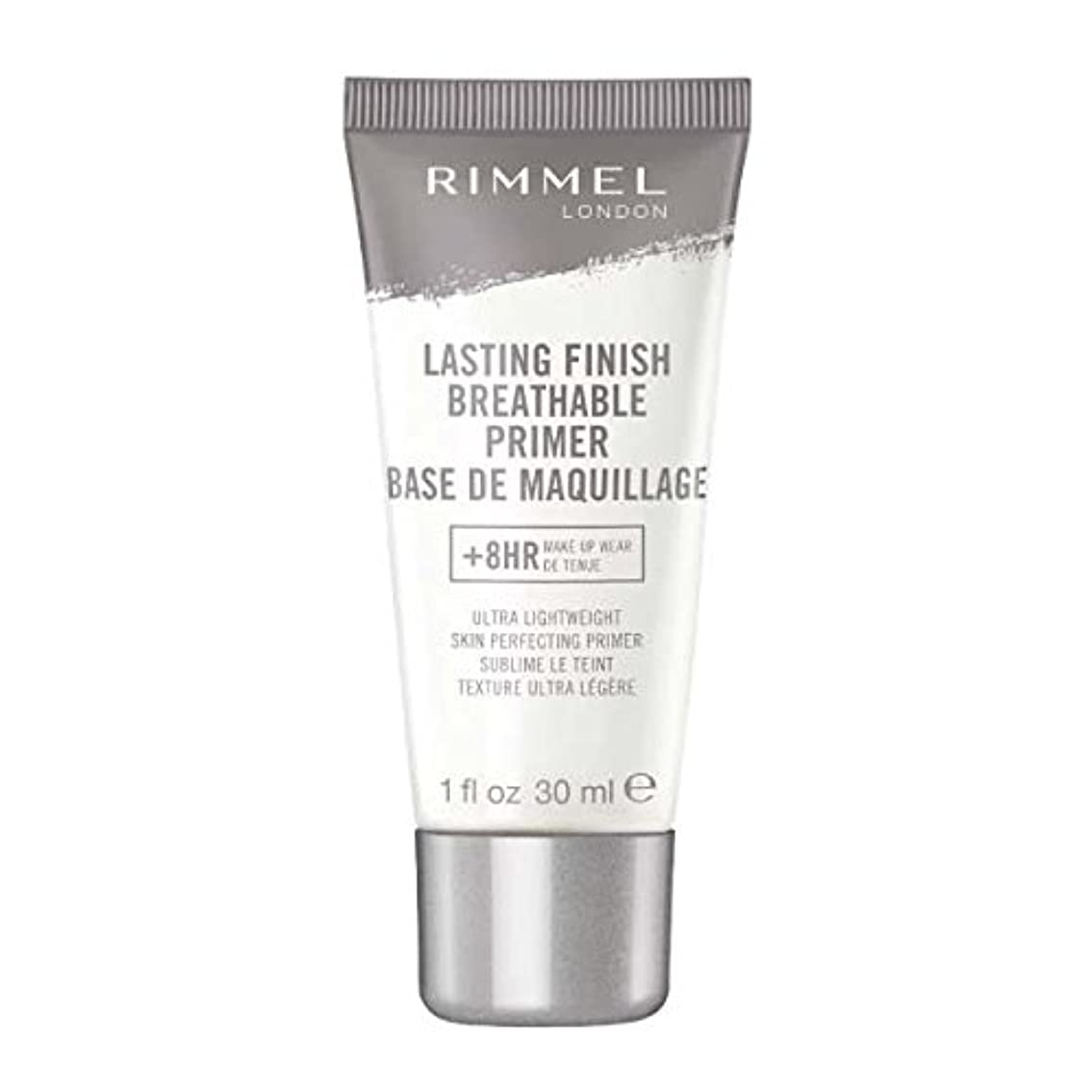 ガム溶けたスリラー(6 Pack) RIMMEL LONDON Lasting Finish Breathable Primer - Transparent (並行輸入品)