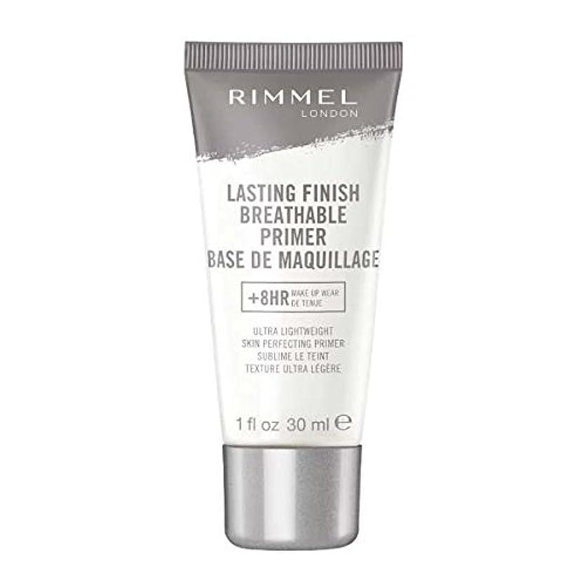 強調無数の振り向く(6 Pack) RIMMEL LONDON Lasting Finish Breathable Primer - Transparent (並行輸入品)