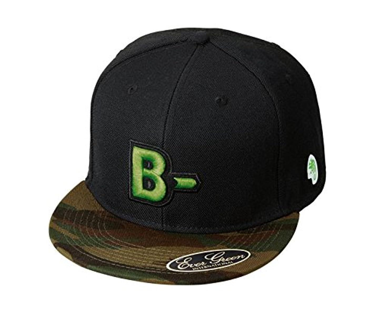 シェード切り刻むパーチナシティエバーグリーン(EVERGREEN) B-TRUE キャップ フラット タイプB グリーンカモ×ブラック